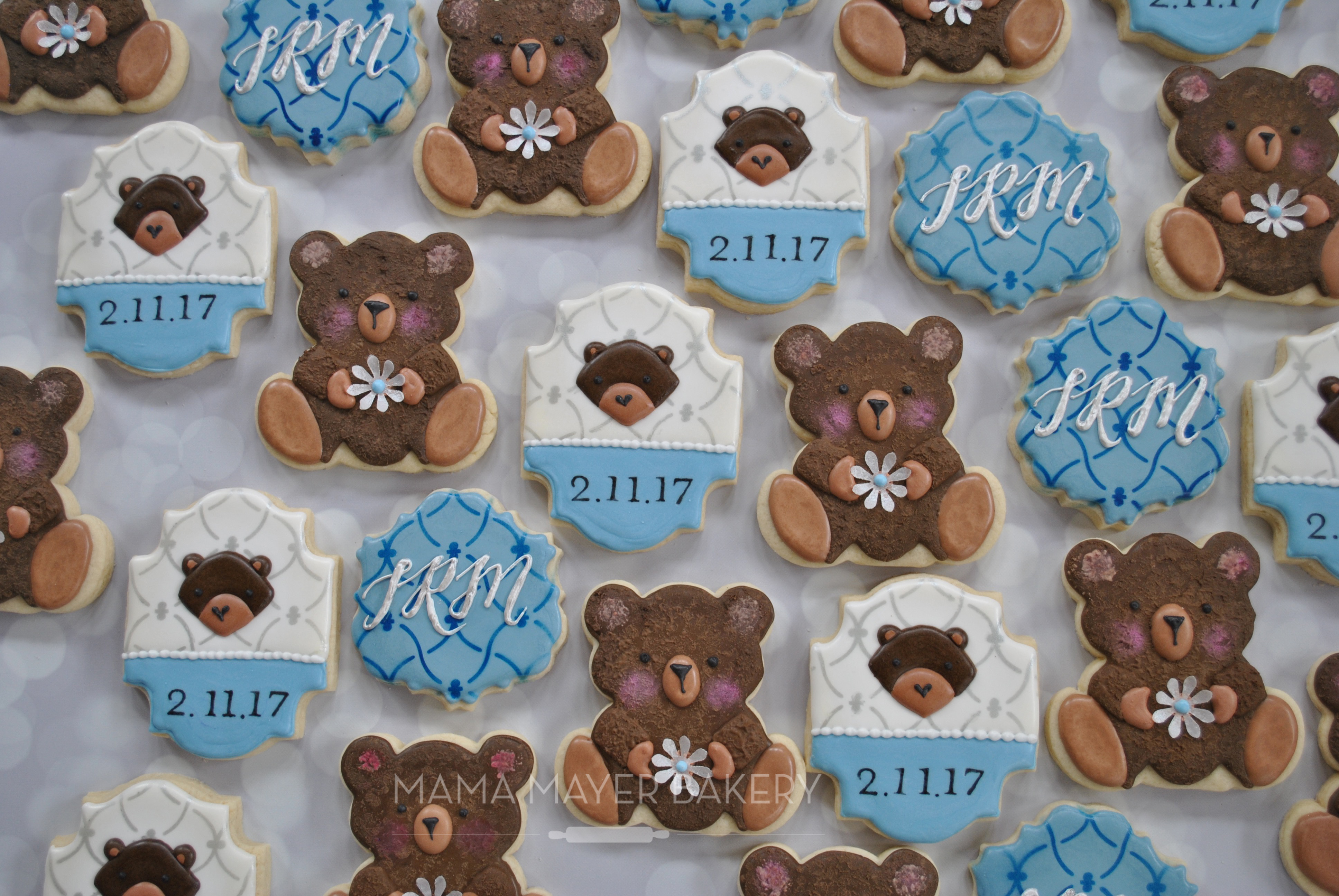 The Teddy Bears (panda Bear Cutter From Bobbiu0027s Cookie Cutters) Started  With A Base Coat Of Brown. Using Lila Loau0027s Book For Guidance, I Mixed  Chocolate ...
